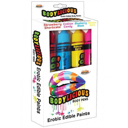 Slíbatelný bodypainting Bodylicious Body Pens (4 příchutě x 55 g)