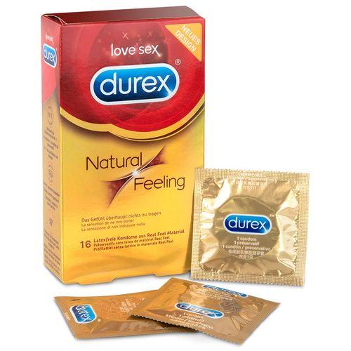 Kondomy bez latexu Natural Feeling Durex (16 ks)
