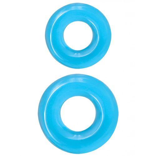 Sada modrých erekčních kroužků Double Stack Renegade (2 ks)