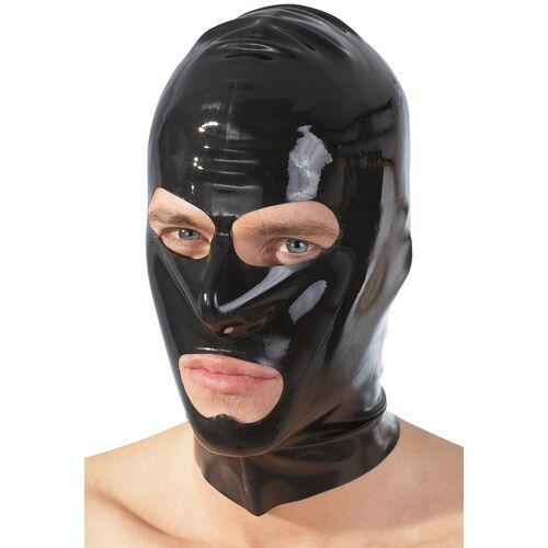 Černá latexová maska s otvory
