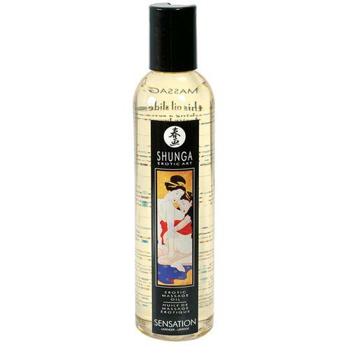Masážní levandulový Olej Shunga Sensation