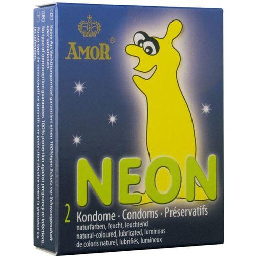 Ve tmě svítící kondomy Neon Amor 2ks