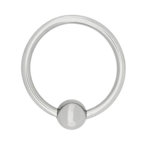 Pevný erekční kroužek s dráždící kuličkou
