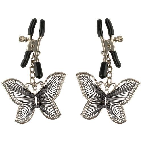 Skřipce na bradavky s motýli